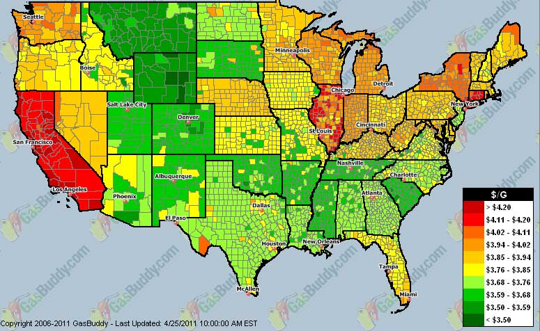 Gas Prices Seattle >> 9 Out Of 10 Counties With Highest Gas Prices In Continental Us All